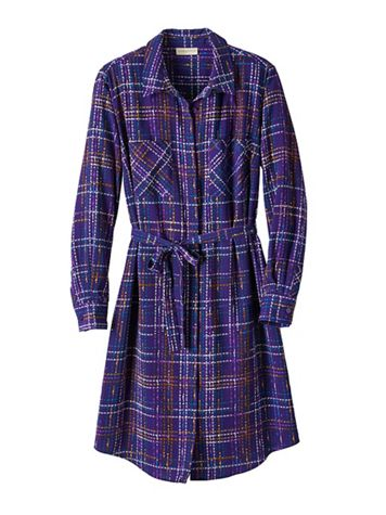 Plaid Belted Shirtdress - Image 2 of 2