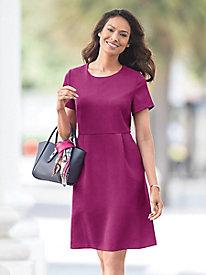 Crepe Pleat Pocket Dress