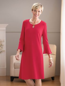 Keyhole Neck Knit Dress