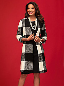 Boucle Check Jacket Dress