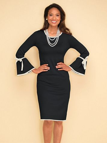 Tipped Sweater Dress - Image 1 of 2