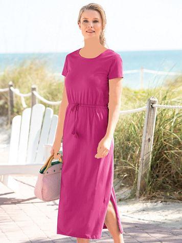 Cross Back Knit Maxi Dress