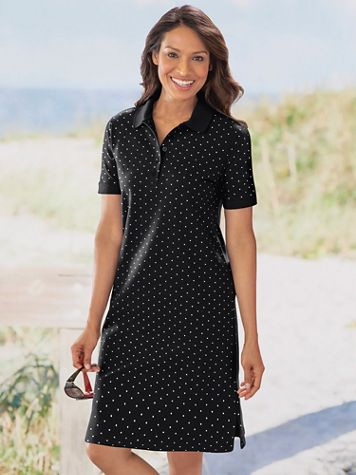 Polka Dot Polo Dress - Image 1 of 5