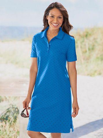 Polka Dot Polo Dress - Image 1 of 4