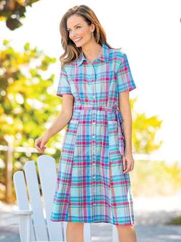 Madras Shirtdress - Image 1 of 4