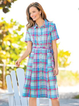 Madras Shirtdress
