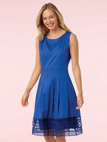 Crochet Trim Fit and Flare Dress - Image 1 of 6