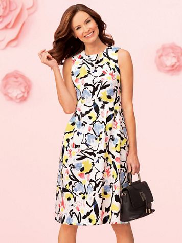 Abstract Floral Dress - Image 5 of 5