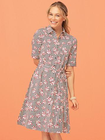 Floral Stripe Shirtdress - Image 5 of 5