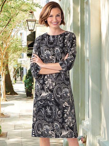 Paisley Knit Shift Dress - Image 3 of 3