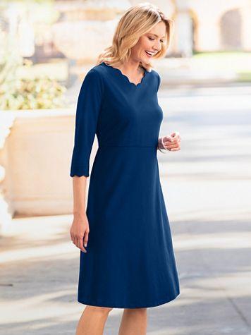Scallop Knit Dress - Image 1 of 3