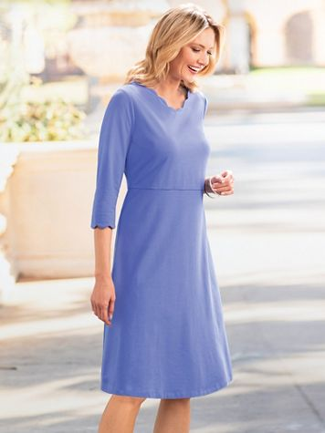 Scallop Knit Dress - Image 1 of 2