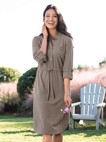 On-The-Go Shirt Dress - Image 1 of 6