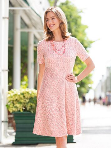 Ribbon Tweed Dress