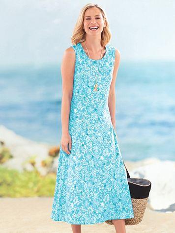 Print Boardwalk Maxi Dress - Image 1 of 5