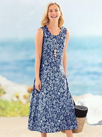 Print Boardwalk Maxi Dress - Image 1 of 1