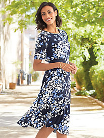 Spring Blossoms Knit Dress