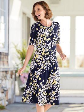 Spring Blossoms Knit Dress