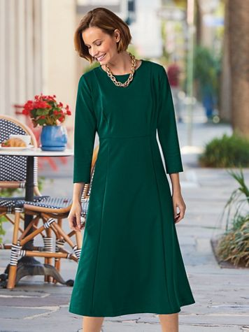 Midi-Length Knit Accessory Dress - Image 1 of 6