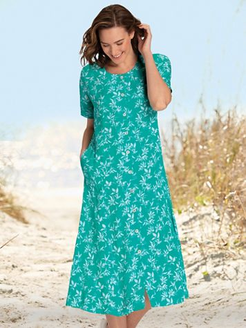 Summer Breeze Button-Front Dress - Image 1 of 3