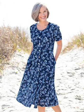 Summer Breeze Button-Front Dress - Image 4 of 4