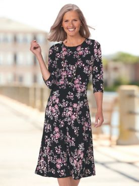 Floral Bouquet Knit Dress