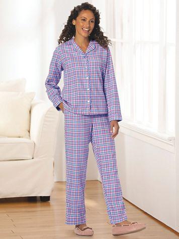 Plaid Cotton Flannel Pajama Set - Image 1 of 7