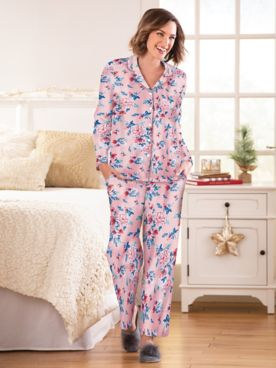 Karen Neuburger Girl & The Fig Cotton-Knit Girlfriend Pajamas