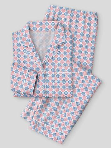 Karen Neuburger Girl & The Fig Cotton-Knit Girlfriend Pajamas - Image 1 of 1