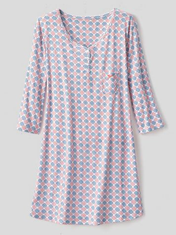 Karen Neuburger Girl & The Fig Cotton-Knit Long-Sleeve Nightgown - Image 3 of 3