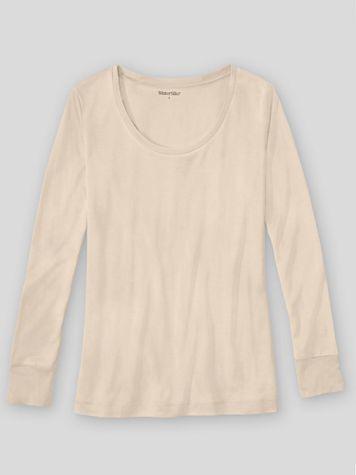 WinterSilks Silk-Knit Mid-Weight Long-Sleeve Sccopneck Base Layer - Image 1 of 3