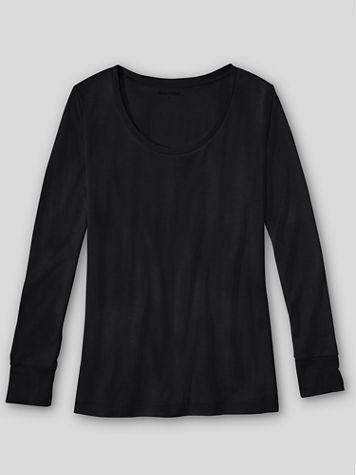 WinterSilks Silk-Knit Mid-Weight Long-Sleeve Sccopneck Base Layer - Image 1 of 1