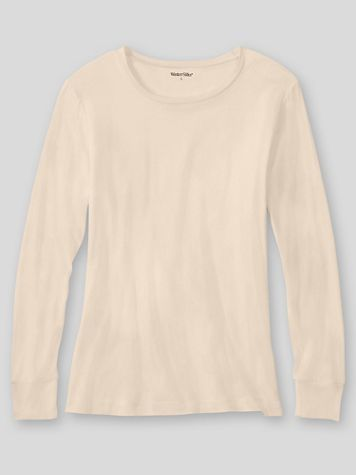 WinterSilks Silk-Knit Mid-Weight Long-Sleeve Crewneck Base Layer - Image 1 of 3