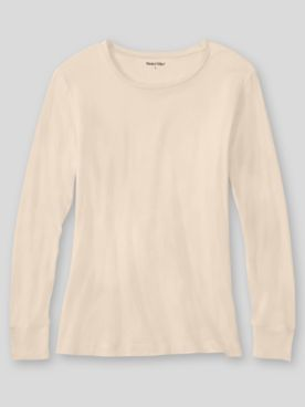 WinterSilks Silk-Knit Mid-Weight Long-Sleeve Crewneck Base Layer