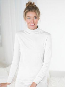 WinterSilks Silk-Knit Mid-Weight Long-Sleeve Turtleneck Base Layer