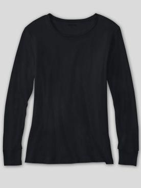 WinterSilks Silk-Knit Lightweight Long-Sleeve Crewneck Base Layer