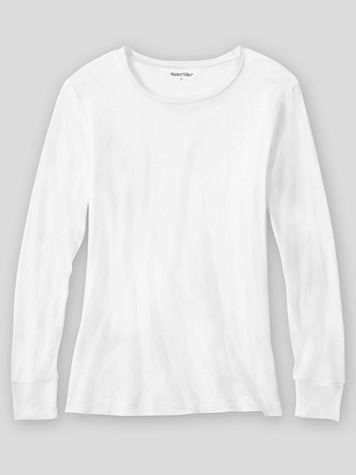 WinterSilks Silk-Knit Lightweight Long-Sleeve Crewneck Base Layer - Image 1 of 1