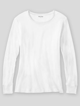 WinterSilks Silk-Knit Lightweight Long-Sleeve Crewneck Base Layer