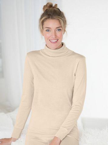 WinterSilks Silk-Knit Lightweight Long-Sleeve Turtleneck Base Layer - Image 1 of 2