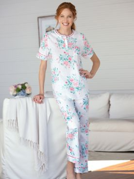Sunkissed Blooms Cotton Lawn Pajama Set