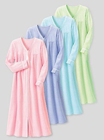 Seersucker Stripe Robe - Image 1 of 3