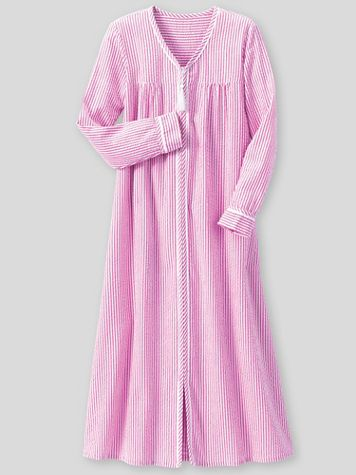 Seersucker Stripe Robe - Image 1 of 1