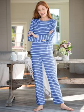 Soft Luxe Striped Knit Lounge Set