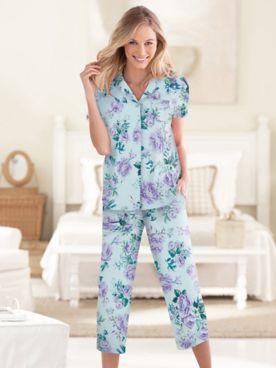 Karen Neuburger® Spring Meadow Floral Capri Pajamas