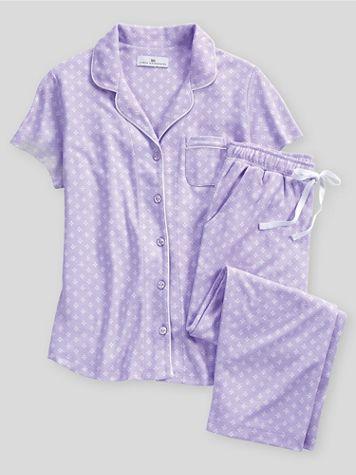 Karen Neuburger Spring Meadow Foulard Capri Pajamas - Image 1 of 1