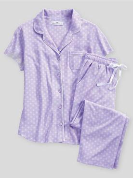 Karen Neuburger Spring Meadow Foulard Capri Pajamas