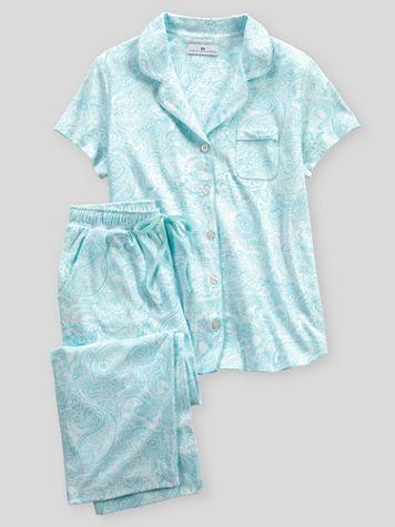 Karen Neuburger® Spring Meadow Paisley Capri Pajamas - Image 2 of 2