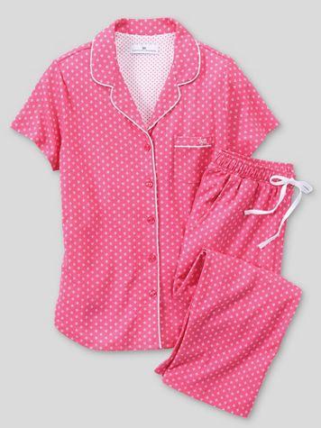 Karen Neuburger Heaven Above Pink Capri Pajamas - Image 2 of 2