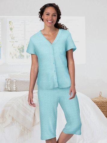 Karen Neuburger Girlfriend Sage Geo Capri Pajamas - Image 3 of 3