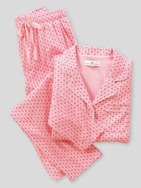 Karen Neuburger® Flower Dot Long-Sleeve Girlfriend Pajamas